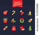 christmas  and new year vector... | Shutterstock .eps vector #515503888