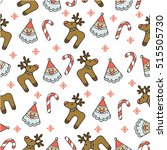 pattern merry christmas image | Shutterstock . vector #515505730