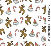 pattern merry christmas image   Shutterstock . vector #515506240