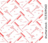 cute pattern of scissors for... | Shutterstock .eps vector #515509060