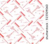 cute pattern of scissors for... | Shutterstock .eps vector #515509060