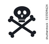 pirate skull isolated icon | Shutterstock .eps vector #515509624