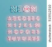 realistic neon character... | Shutterstock .eps vector #515512510