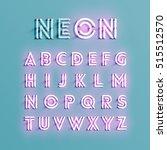 realistic neon character... | Shutterstock .eps vector #515512570