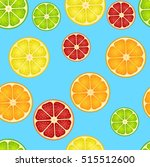 seamless pattern with different ... | Shutterstock .eps vector #515512600