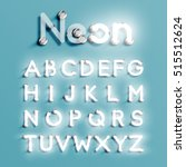 realistic neon character... | Shutterstock .eps vector #515512624