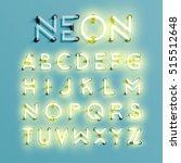 realistic neon character... | Shutterstock .eps vector #515512648