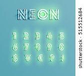 realistic neon character... | Shutterstock .eps vector #515512684