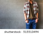 men's casual outfits standing... | Shutterstock . vector #515513494