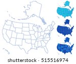 illustration of the usa maps... | Shutterstock .eps vector #515516974