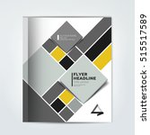 cover of annual report brochure ... | Shutterstock .eps vector #515517589
