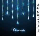diamond sparkling beads... | Shutterstock .eps vector #515517934
