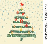 holiday hand drawn sketch...   Shutterstock .eps vector #515518270