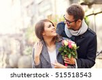 picture showing young couple... | Shutterstock . vector #515518543