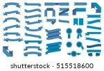 set of beautiful festive... | Shutterstock .eps vector #515518600
