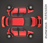 car parts.top view. 3d...   Shutterstock . vector #515521024