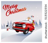 funny santa claus  he is... | Shutterstock .eps vector #515522554