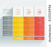 pricing comparison plan set for ... | Shutterstock .eps vector #515525956
