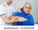 senior man receiving a... | Shutterstock . vector #515526109
