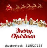 merry christmas  greeting card. ... | Shutterstock .eps vector #515527138