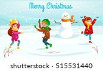 winter kids vector illustration.... | Shutterstock .eps vector #515531440