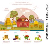 farm infographics natural food... | Shutterstock .eps vector #515532910