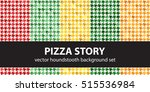 "houndstooth pattern set ""pizza... 