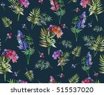 vintage floral seamless pattern ... | Shutterstock . vector #515537020