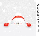 christmas cute  funny  baby ... | Shutterstock .eps vector #515538574