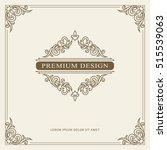 vintage ornament greeting card... | Shutterstock .eps vector #515539063