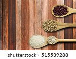 spoon with seed  on right side... | Shutterstock . vector #515539288