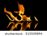 fire flames on black background | Shutterstock . vector #515539894