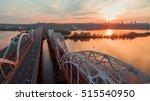 automobile and railroad bridge... | Shutterstock . vector #515540950