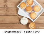 coconut muffins. pennant flags... | Shutterstock . vector #515544190