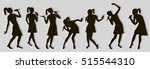 black singing people... | Shutterstock .eps vector #515544310