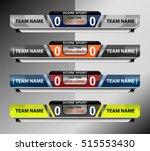scoreboard sport template for...   Shutterstock .eps vector #515553430