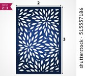 laser cut card with flowers.... | Shutterstock .eps vector #515557186