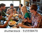 leisure  eating  food and... | Shutterstock . vector #515558470