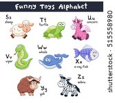 funny animals alphabet. cute... | Shutterstock .eps vector #515558980