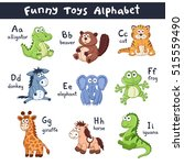 Funny Animals Alphabet. Cute...