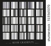 set of silver gradients... | Shutterstock .eps vector #515565370