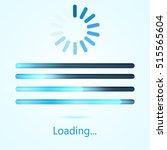 vector progress loading bar.... | Shutterstock .eps vector #515565604