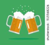 toasting glasses of beer.... | Shutterstock .eps vector #515568226