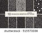 collection of swatches memphis... | Shutterstock .eps vector #515573338