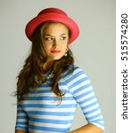 portrait of young beautiful... | Shutterstock . vector #515574280