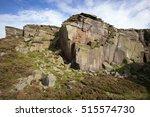 Millstone Grit Rock Face In...