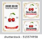 cherry brandy   liquor  alcohol ... | Shutterstock .eps vector #515574958