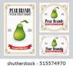 pear liquor retro style label   | Shutterstock .eps vector #515574970
