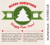 retro festive template with... | Shutterstock .eps vector #515580118