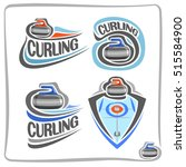 vector abstract logo curling... | Shutterstock .eps vector #515584900